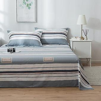 Simple Modern Print Cozy Right Angle Cotton Flat Bed Sheet And Pillowcase