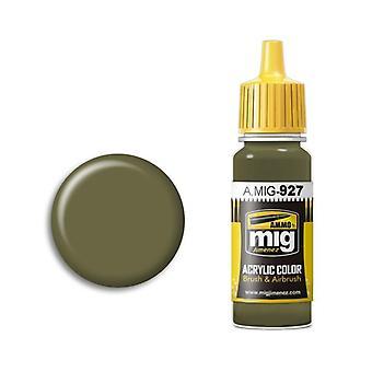 Ammo by Mig Acrylic Paint - A.MIG-0927 Olive Drab  Light Base (17ml)