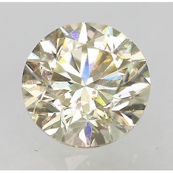 Cert 0.55 Karat Fancy Yellow VS2 Runde brillant verbessert natürlichen Diamant 4.91mm