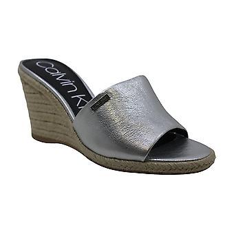 Calvin Klein Women's Britta Wedge Sandals, Lime, 8 M