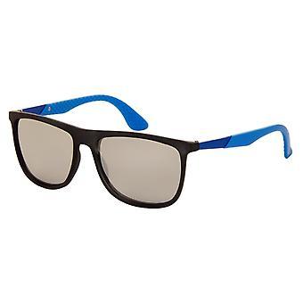Sonnenbrille Unisex    schwarz / blau mit Spiegellinse (9100 P)