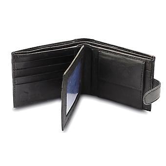 Primehide BASIC - Portefeuille en cuir pour hommes - Blocage RFID - Noir / Brun - 340