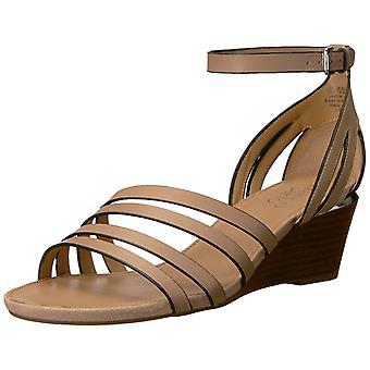 Franco Sarto Womens L-Della Leather Open Toe Casual Ankle Strap Sandals