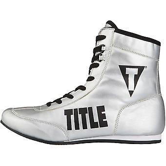 Titel boksen geld Metallic Flash boksers Full-Length boksen schoenen - zilver