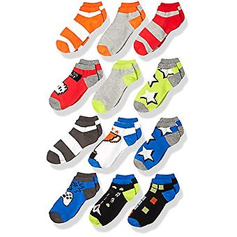 Brand - Spotted Zebra Kids Boys Ankle Socks, 12-Pack Gamer, Medium