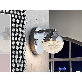 Schuller Sphere - Zintegrowana lampa ścienna LED polerowana chrom