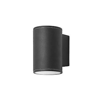 Forlight Orion - LED Outdoor Surface Mounted Wall Light Black IP54