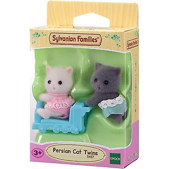 Sylvanian Familles jumeaux chats persans avec Ride-On