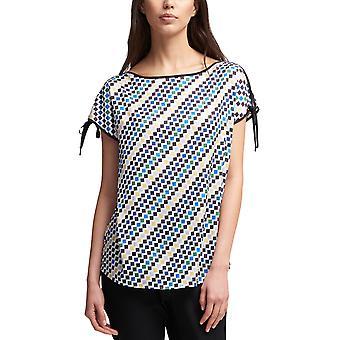 DKNY | City Bloom Bedrukte Tie-Sleeve Top