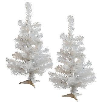 2ft Kunstmatige Kerstboom met Tribune - Wit