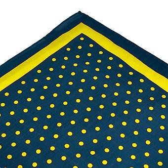 Solmiot Planet Navy Sininen & Keltainen Polka Piste Tasku Neliö Nenäliina