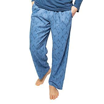 Cyberjammies Arthur 6528 Männer's blau Mix Hirsch Druck Pyjama Hose