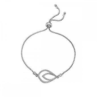 Hot Diamonds Sterling Silver Harmony White Topaz Bracelet DL592