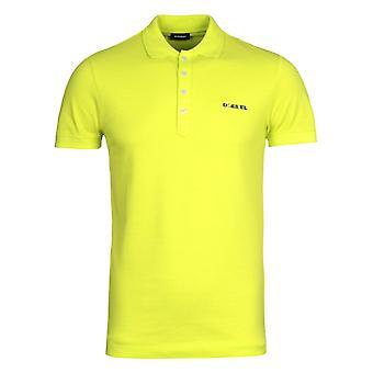 Diesel T-Heal Broken Logo Yellow Polo Shirt