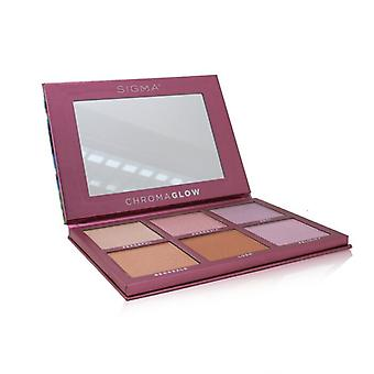 Sigma Beauty ChromaGlow Shimmer + Paleta de resaltado (6x Highlighter) 28.14g/0.99oz
