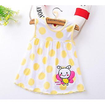 Flower Printed Toddlers Princess Dresses Baby A-line Lovely Sleeveless Summer