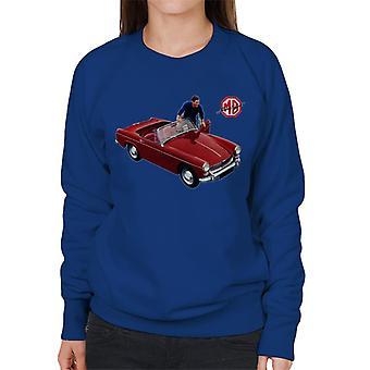MG Rød Komme I Bilen Britiske Motor Heritage Kvinner's Sweatshirt