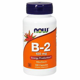 Nyt Elintarvikkeet Vitamiini B-2 Riboflaviini, 100mg, 100 Caps