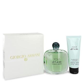 Acqua di gioia Gift Set door Giorgio Armani 3,4 oz Eau de parfum spray + 2,5 oz Body lotion