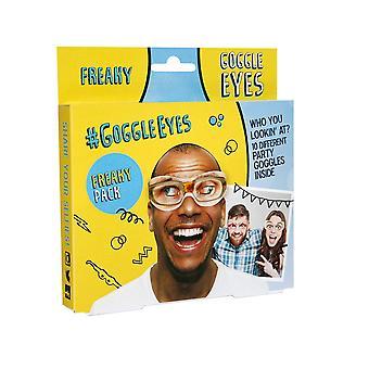 Máscara-arade Gafas Ojos Freaky Máscara de fiesta (Paquete de 10)