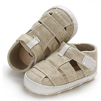 Hollow Soft Sole, Canvas Shoes-crib Prewalker Clogs