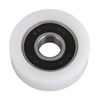 1.1cm ID 3.5cm OD Roller Bearing Pulley Flat Resin Nylon Wheel Guide