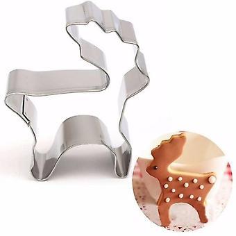 Luova ruostumattomasta teräksestä valmistettu evästeleikkuri, kakkukeksien leivontamuottityökalu