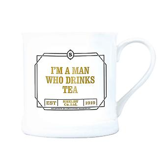 Peaky Blinders Mug Im A Man Who Drinks Tea new Official White Vintage Boxed