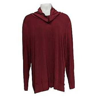 Belle By Kim Gravel Women's Top Cowl Neck Red A383478