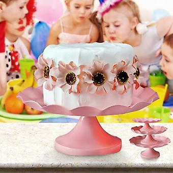 Pink Round Metal Cake Holder Of Cake Cup Cake Stand Birthday Wedding Party