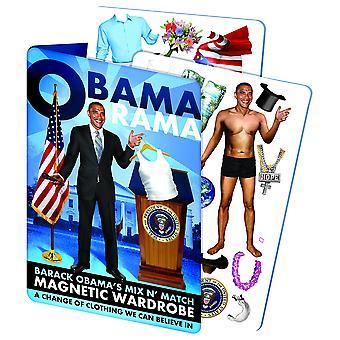 العاطلين عن العمل الفلاسفة نقابة obamarama -- باراك أوباما اللباس المغناطيسي حتى دمية اللعب مجموعة