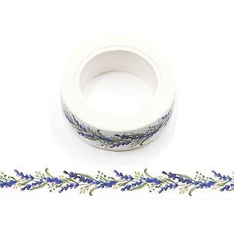 Violetti laventeli kukka Washi Teippi 15mm x 10m