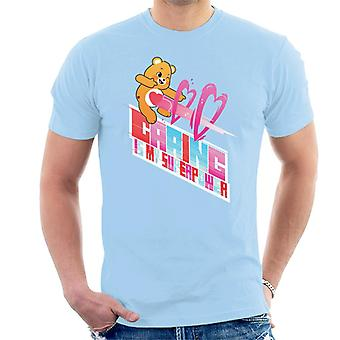 Care Bears Unlock The Magic Caring Is My Superpower White Border Men's T-Shirt