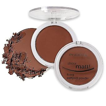 Waterproof And Long Lasting, Shee Matte Compact Powder For Face Oil Control And
