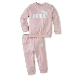 Puma Minicats Essential Crew Jogger Infant Girls Tuta sportiva Set Rosa