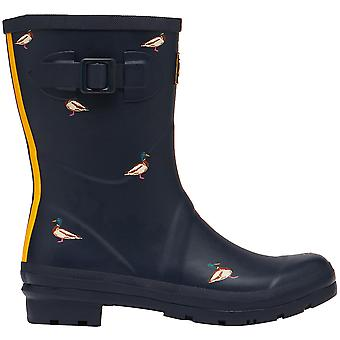Joules Dames Molly Welly Mid Height Rubber Wellington Boots