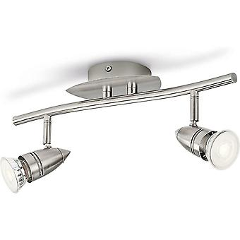 Philips MyLiving LED Spotlight Comet 460 Brushed Steel Metal 3.5W 14.5x33.5 x17