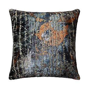 Tundra Distressed Cushion In Blue Multi