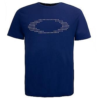 オークリー メンズ 楕円 スター 半袖 T シャツ グラフィック トップ ブルー 457356 609