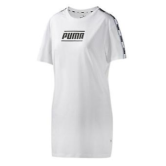 Puma Camo Pack T-Shirt Dress Casual Taped Sleeve Top White 579558 02