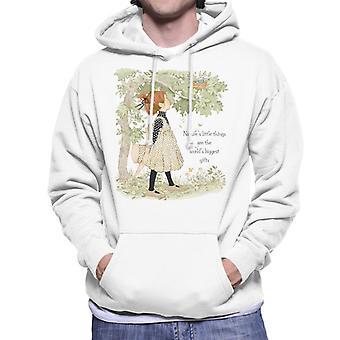 Holly Hobbie Natures Little Things Dark Text Men's Hooded Sweatshirt