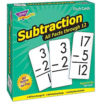 Soustraction 0-12 Tous les faits Skill Drill Flash Cards