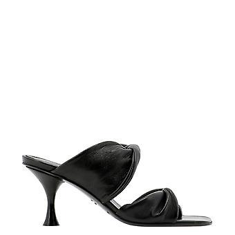 Halmanera Zena16black Women's Black Leather Sandals