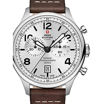 Reloj masculino militar suizo por Chrono SM30192.05, cuarzo, 42 mm, 10ATM