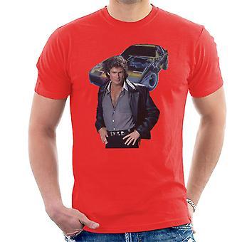 Knight Rider Michael Knight och KITT Men's T-Shirt