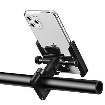 Bsddp aluminum alloy bike motorbike motorcycle handlebar rear view mirror phone holder for smart phone 4.0-6.5 inch smart phone for iphone se 2020