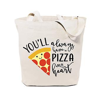 You'll Always Have A Pizza My Heart-cotton Canvas Tote Bag