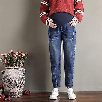 Mutterschaft Jeans, elastische Taille Bauch lose Hose, Frauen Schwangerschaft Hose