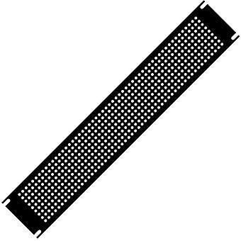 Hammond PPFS19001BK2 1U Steel Blank Panel Black - Perforated 483 x 2 x 44