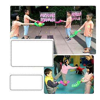 Ejection Table Tennis, Children Throwing And Catching, Throw The Ball
